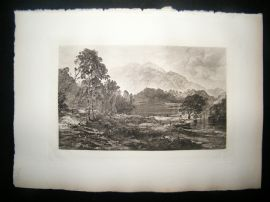 T & R Annan after Horatio Macculloch 1885 Photogravure. Loch Katrine, Scotland